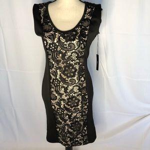 NWT BCBG elegant black size 8 dress